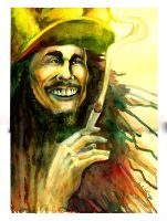 Bob Marley Characature by acarabet