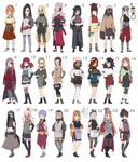 Naruto Female Adoptables Batch [ALL SOLD tysm!] by MaiRingo