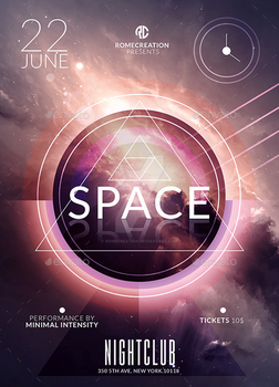 Space Minimal Intensity / Flyer Psd Templates Pack