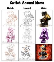 Mystery Skulls OCs - Switch Around Meme by Mindless-Corporation