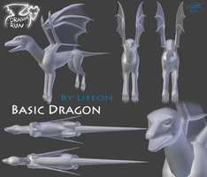 Dragon Run - Basic Dragon Mesh by dragon-master-13