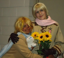 APH Cosplay-Syrup and Sunflowers by nursal1060