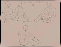 Male body study by Evymonster9406