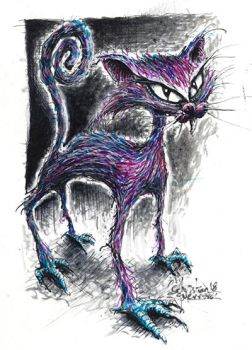 the cat by misterpila