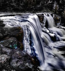 Gooseberry Falls with Ice Forming by AugenStudios