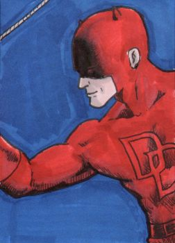 Daredevil Sketch Card - ECCC 2018 by pjperez