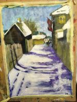 ART CLASSES: Winter painting by J-laura
