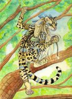 A Margay in a Tree by autumnjaguar