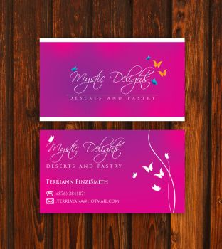 Mystic Delights business card by yanic