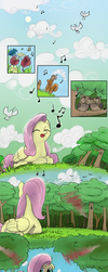 Origin Story: Fluttershy Pg. 1 by Dreatos