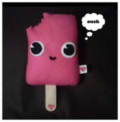 Strawberry Lollipop Plush by riaherod