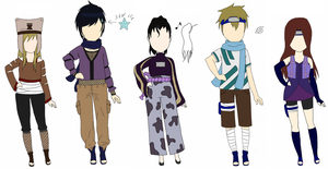 Naruto OC Adoptables 4 .:Auction Closed:. by Bynsair