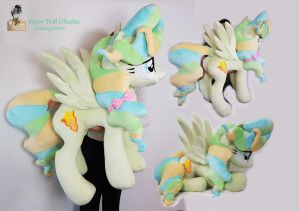 Vapor Trail lifesize standing plushie 48 inches by Epicrainbowcrafts