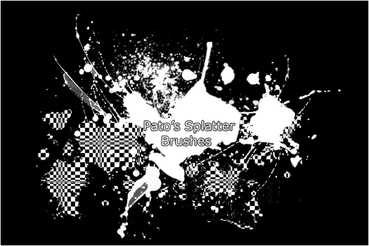 Pato's Splatter Brushes by pato92