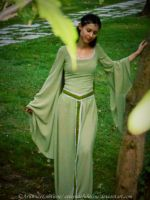 Rivendell Elf cosplay - Sage green dress II by ArwendeLuhtiene