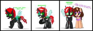Crypto the Happy Rubbery Changeling by CyberApple456