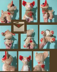 CAT PLUSHIE OTA! Open! Shipped to you!! by CloverPigeonStudios