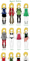 Nagisa Outfits by Cysco-Inu
