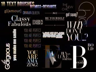 18 Text Brushes by Miss-deviantE