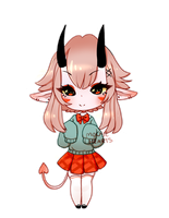 ADOPT [CLOSED] Demon School-girl - SET PRICE by Mousehearts