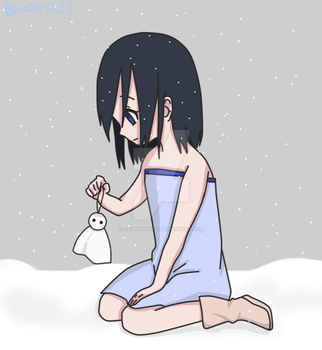 Little Miyuki In The Snow by Blueskys33