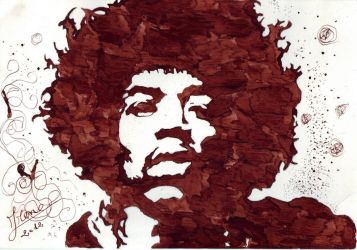 Jimi Hendrix by ClairBlueArt