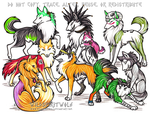 Anime Wolves Commission by WildSpiritWolf