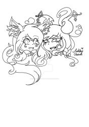 Ashy And her Sister by cutelittlepikakitty