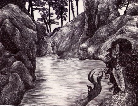 Mermaid River by DamnBlackHeart
