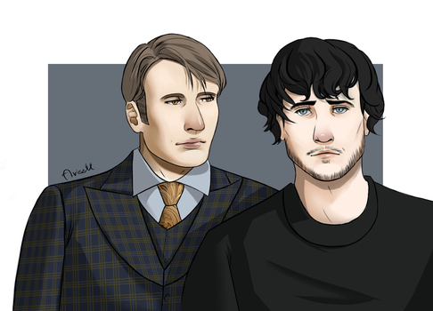 Hannibal and Will by Riuko-chan