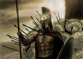 The Spartan's Last Stand by BABAGANOOSH99