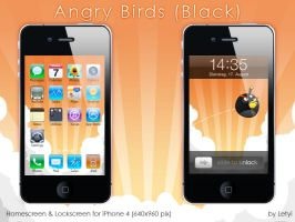 Angry Birds -Black- iPhone by Letyi