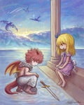 Nalu fluff week 2018 day 1 - Confession (?) by Natsunoha02