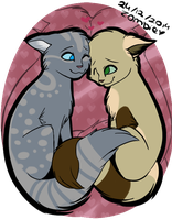 Kittys in love by ZombieDogie