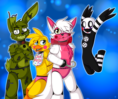 .::FNAF World squad::. by Kalza
