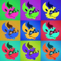 Colorful Wall of Dingos by TheInsaneDingo