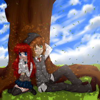 Under the tree by Anini-Chu