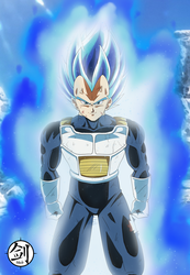 Vegeta Super Saiyan Bleu Evolution by Blade3006