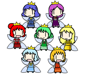 Walfas - An attempt at the Sprixie Princesses by Goomba98