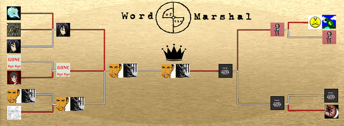 Word of the Marshal Brackets by GeoCaecias