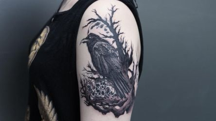 Raven tattoo side view by sHavYpus