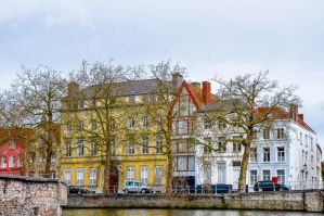 on the bank in Bruges by Rikitza