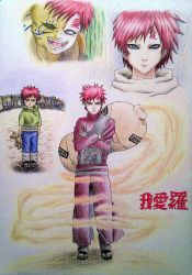 Gaara of the Sand Waterfall by christie174