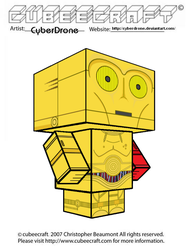 Cubeecraft - C-3PO 'The Force Awakens' by CyberDrone
