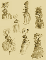 Ladies Sketches by Ionahipri