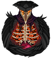 Plague Doctor [orange] by Empty-Brooke