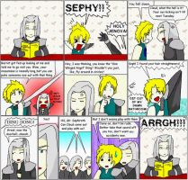 Cloud and Sephiroth...NNT by Midnas