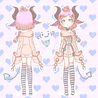 [CLOSE] Demon pink girl. [180 Points] by AdoptablesKisu