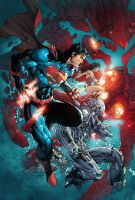 Justice League 15 Variant Cover by JUANCAQUE