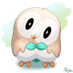 Rowlet by EarthGwee